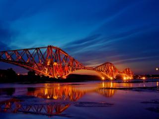 обои Подсветка конструкции моста фото