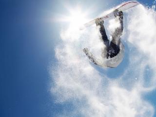 обои Кувырок сноубордиста фото