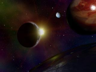 обои Три планеты фото