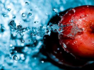 обои Яблочко в воде фото