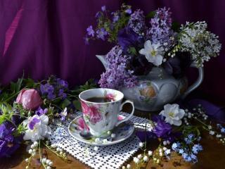 обои Натюрморт - Дачное чаепитие фото