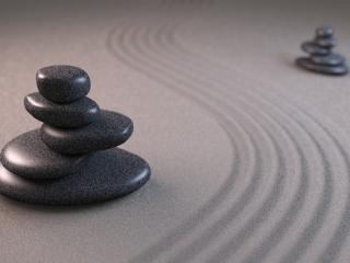 обои для рабочего стола: Фен-шуй - Темные камни