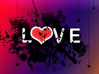 обои Надпись любовь на забрызганном фоне фото