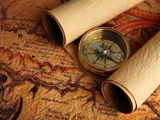 обои Красивый компас и карты фото