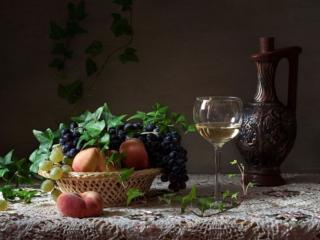 обои Натюрморт - Фрукты к белому вину фото