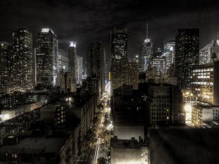 обои Ночь в темном городе фото
