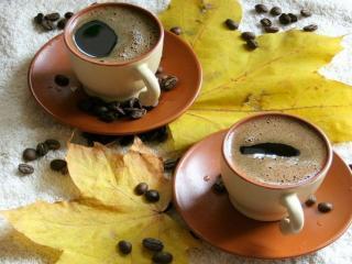 обои Осенний кофе фото