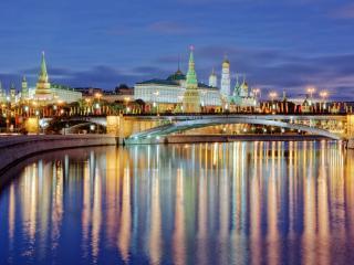 обои Утро над Москвой фото