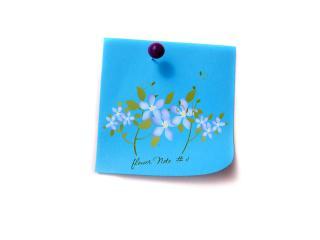 обои Голубая цветочная записка фото