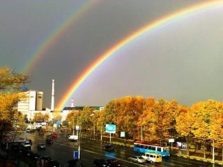 обои Осенняя радуга фото