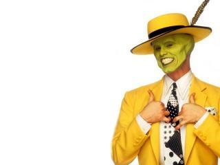 обои Маска в желтой шляпе фото