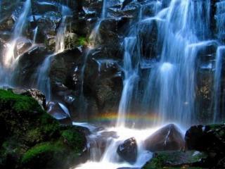 обои Струится синий водопад фото