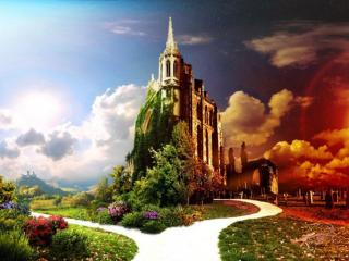 обои Таинственный замок фото