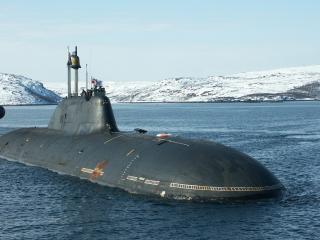 обои Подводная лодка на всплытии фото