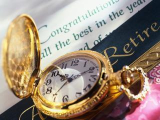 обои Рамочка с надписью и карманные часы фото