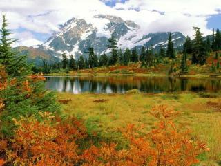 обои Осеннее предгорье фото