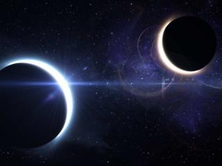 обои Две планеты космоса фото