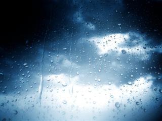 обои Небо сквозь мокрое стекло фото
