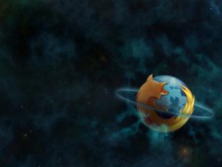 обои Планета фаерфокс в космосе фото
