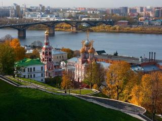 обои Вид на Нижний Новгород фото
