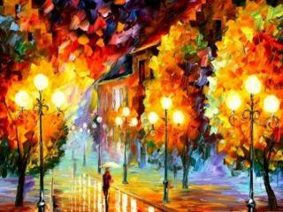 обои Городская осень художника фото