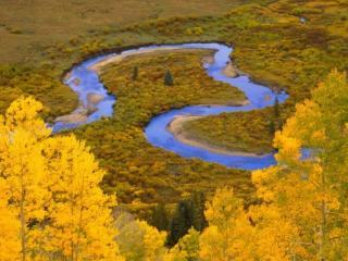 обои Извилистые реки Камчатки фото