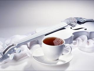 обои Белая скрипка фото