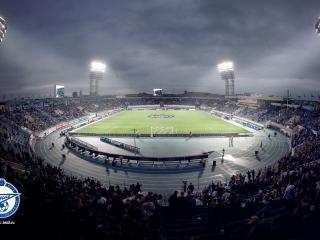 обои Футбольная арена и логотип клуба зенит фото
