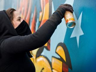 обои для рабочего стола: Граффити это анонимность