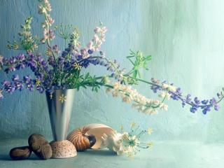 обои для рабочего стола: Цветы в красивой вазе