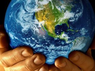 обои Планета земля в руках фото