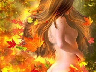 обои Леди Осень фото