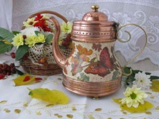 обои Осенний кофейник фото
