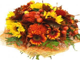 обои Букет из ягод и цветов фото