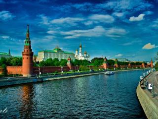 обои Москва река у стен кремля фото