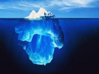 обои Две части айсберга фото