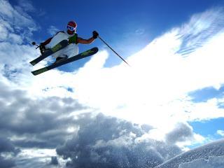 обои Лыжник в майке фото
