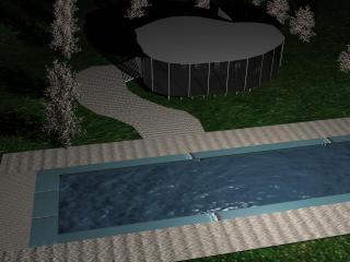 обои Летний дом с бассейном фото