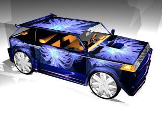 обои Люминесцентный автомобиль фото