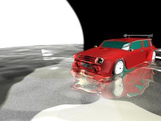 обои Машина в воде фото
