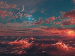 обои Космос и море фото