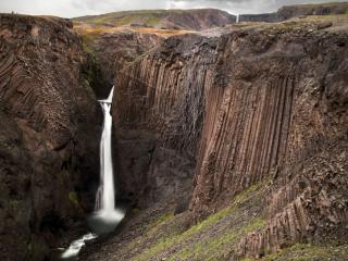обои Водопад Литланесфосс фото