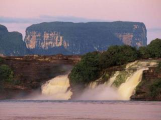обои Два водопада фото