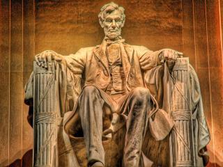 обои Статуя президента в рисунке фото