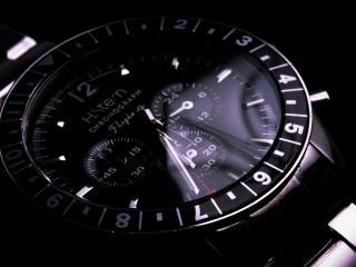 обои Черный циферблат часов фото
