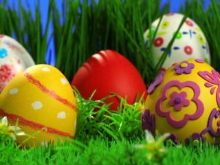обои Узоры на пасхальных яйцах фото