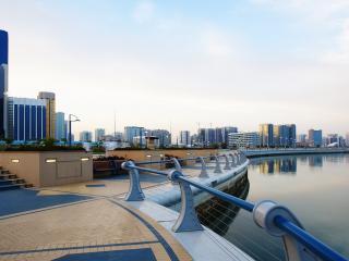 обои Вид города у причала фото