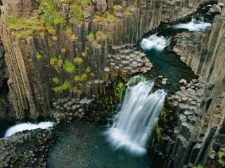 обои Ступени водопада Литланесфосс фото