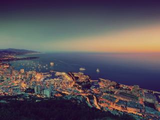 обои Город на берегу океана фото