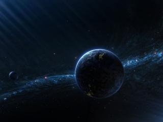 обои Прямые лучи света в космосе фото